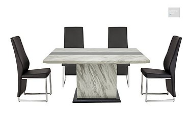Mont Blanc Dining Table and 4 Chairs  in {$variationvalue}  on FV