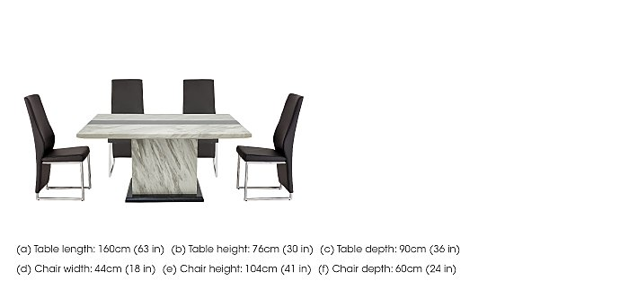 Mont Blanc Dining Table and 4 Chairs in  on FV