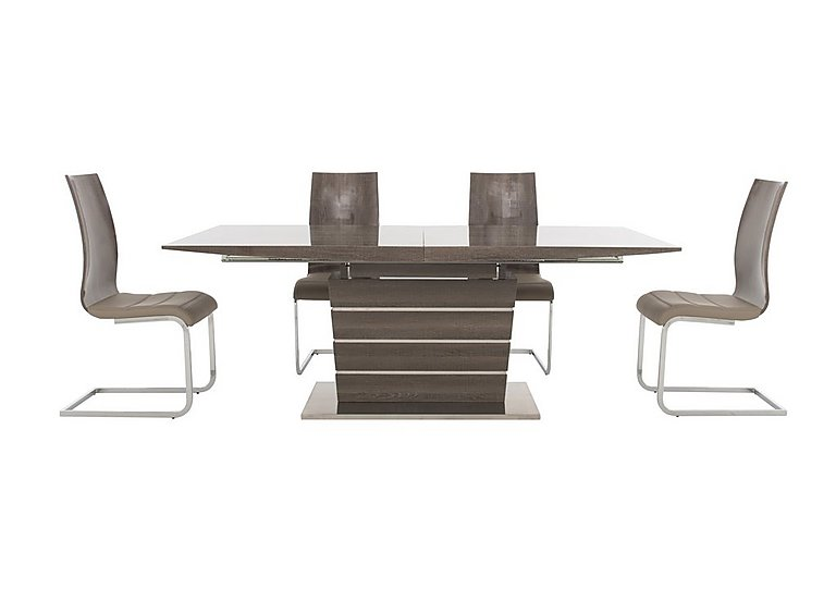 Messina Extending Dining Table and 4 Dining Chairs