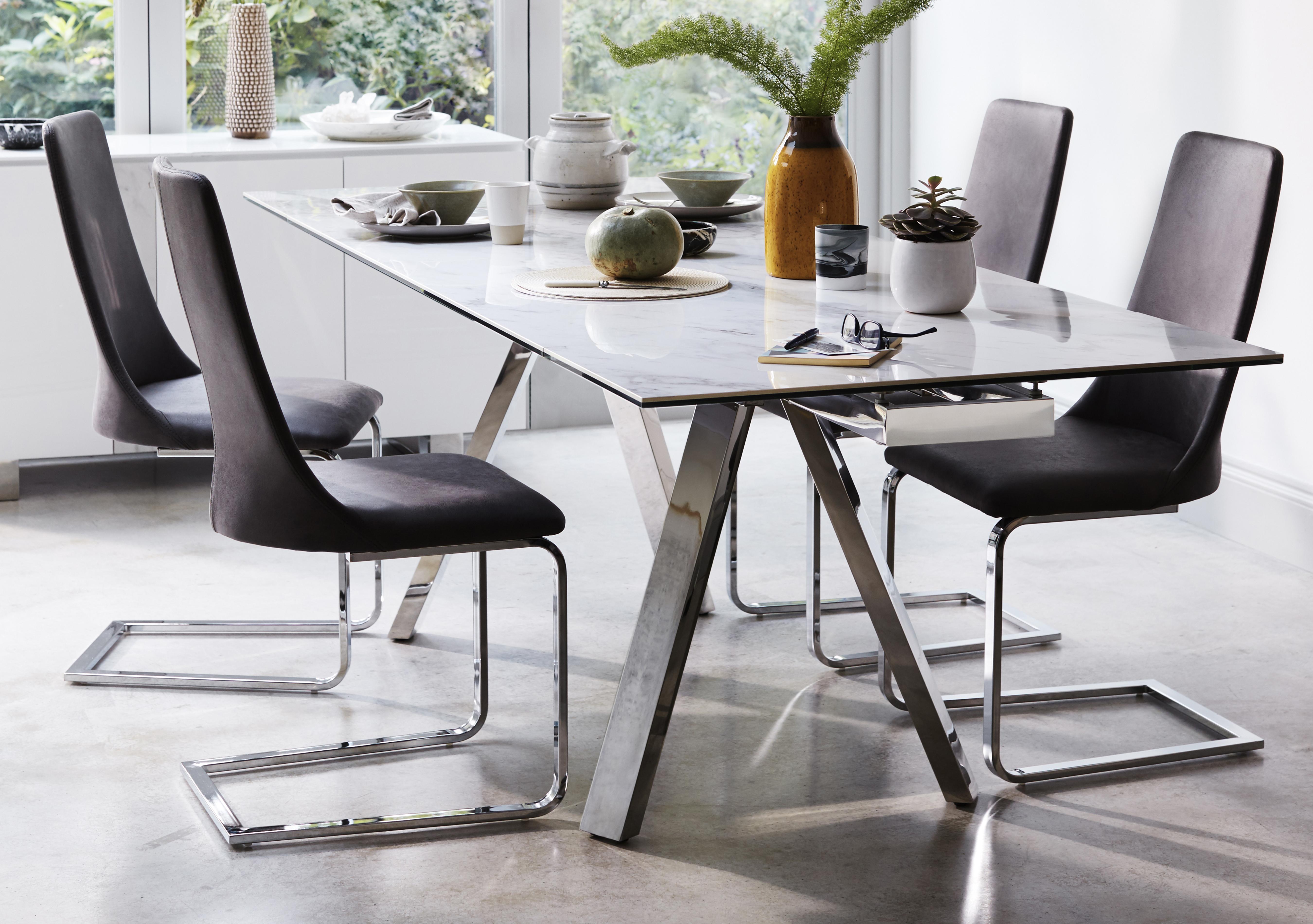 Glass dining table sets Furniture Village