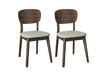 Nexus Pair of Veneered Back Chairs in  on Furniture Village