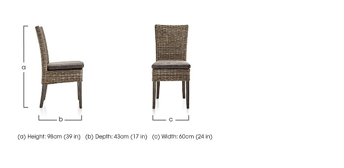 Oslo Rattan Dining Chair in  on FV