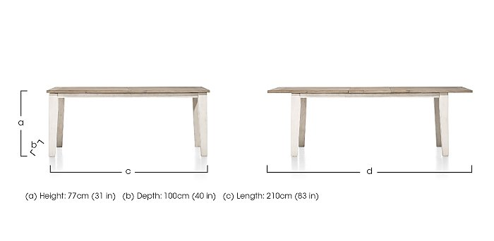 Oslo Extending Dining Table in  on FV