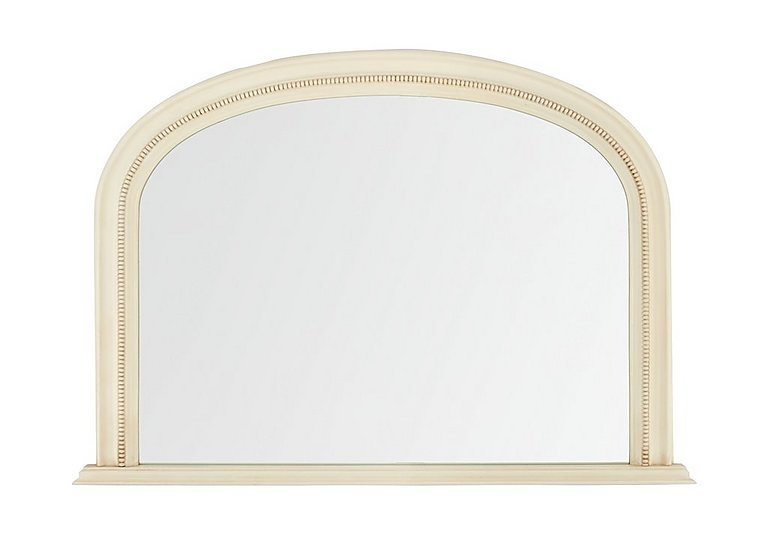 Ivory Overmantle Mirror in  on FV