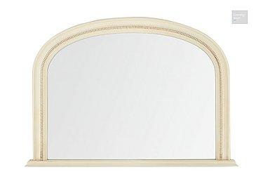 Ivory Overmantle Mirror  in {$variationvalue}  on FV