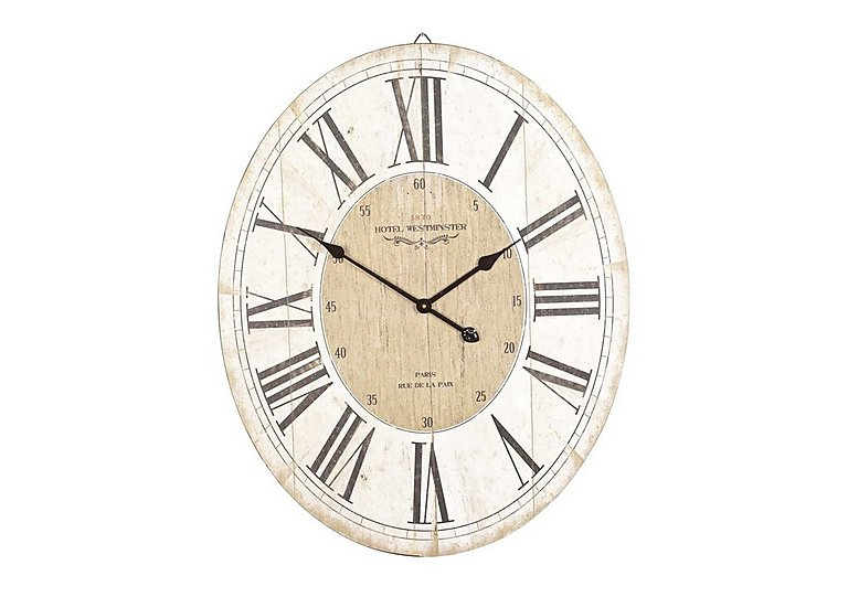 Parisienne Wall Clock in  on Furniture Village