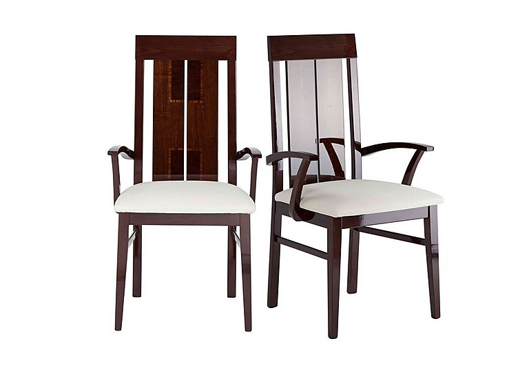 Palermo Pair of Arm Dining Chairs