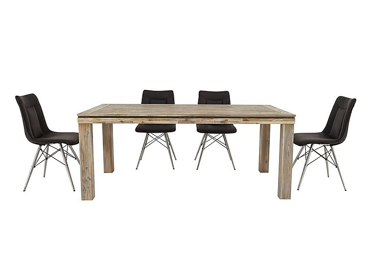 Panay Dining Table and 4 Coffee Chairs