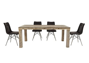 Panay Dining Table and 4 Coffee Chairs in  on Furniture Village