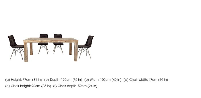 Panay Dining Table and 4 Chairs in  on Furniture Village