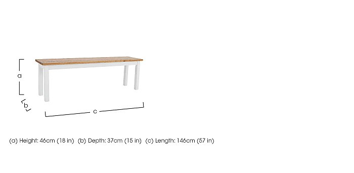Parquet Dining Bench  in {$variationvalue}  on FV