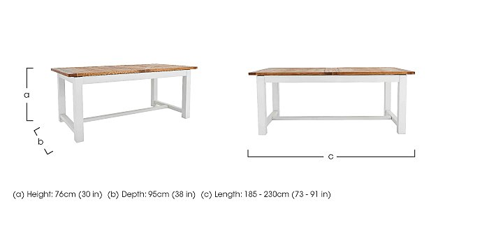 Parquet Extending Dining Table