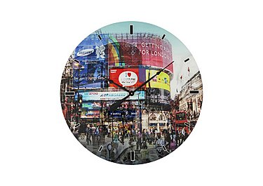 Glass Piccadilly Circus Wall Clock in  on FV