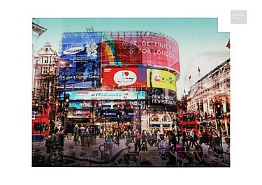 Piccadilly Circus Glass Picture  in {$variationvalue}  on FV