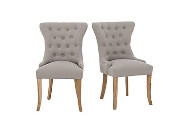 Padstow Slate Grey Button Back Chairs (Pair) in  on FV