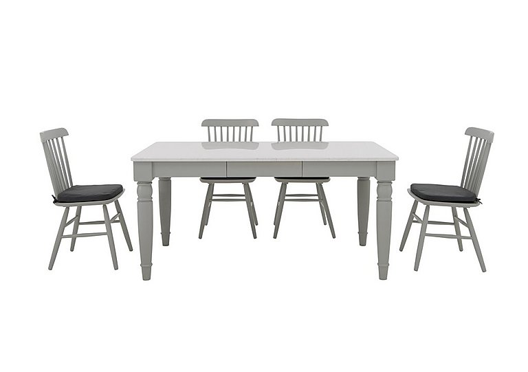Padstow Dining Table and 4 Spindle Back Chairs