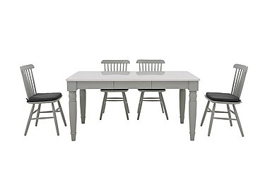 Padstow Dining Table and 4 Spindle Back Chairs in  on FV