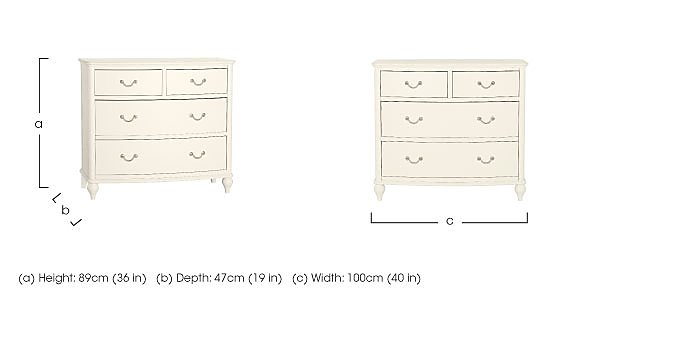 Penelope 4 Drawer Chest in  on FV