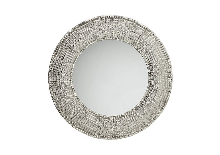 Pearls Silver Round Mirror in  on FV