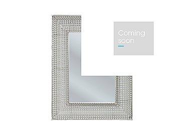 Pearls Silver Rectangular Mirror in  on FV