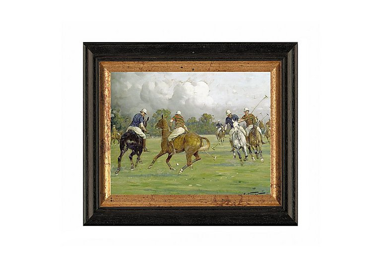 Polo Match Framed Picture in  on FV