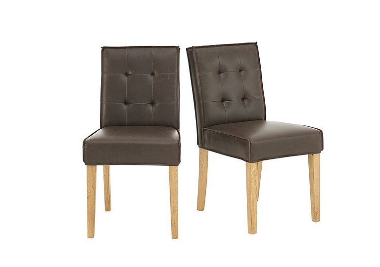 Portland Pair of Club Buttonback Dining Chairs in  on FV