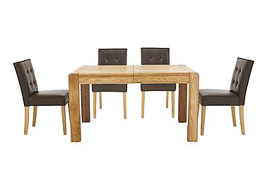Portland Extending Dining Table and 4 Buttonback Chairs in  on FV