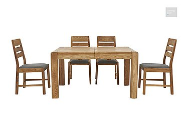 Portland Extending Dining Table and 4 Slatted Back Chairs in  on FV