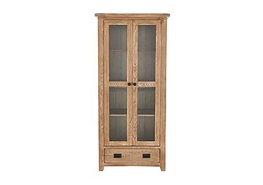 Provence Oak Glazed Display Unit