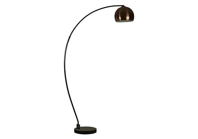 Copper Retro Ball Floor Lamp in  on Furniture Village