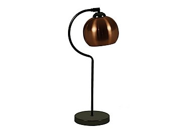 Copper Retro Ball Table Lamp in  on Furniture Village