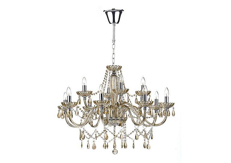 Raphael 12 Light Champagne Chandelier  in {$variationvalue}  on FV