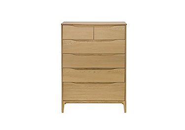 Rimini 6 Drawer Tall Wide Chest in  on FV