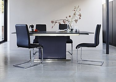 Radius Table and 4 Cantilever Dining Chairs in  on FV