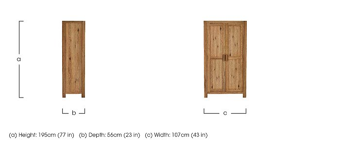 Roble Double Wardrobe - Only One Left! in  on FV