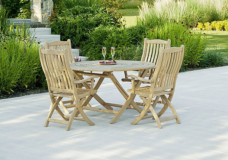 Roble Round 4 Seater Dining Set