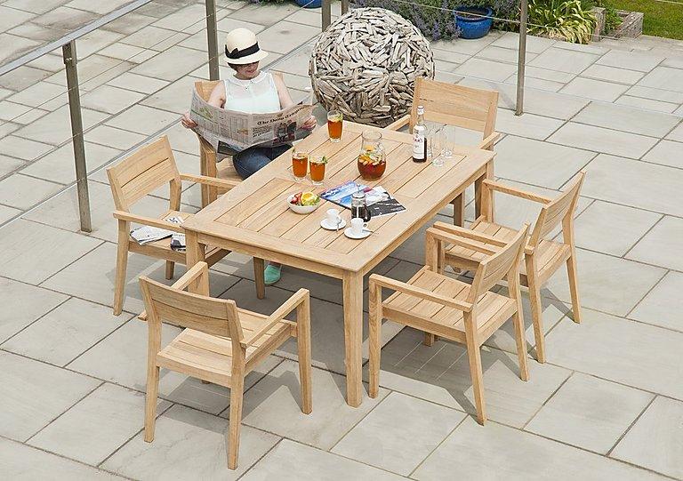 Roble Rectangular 6 Seater Dining Set