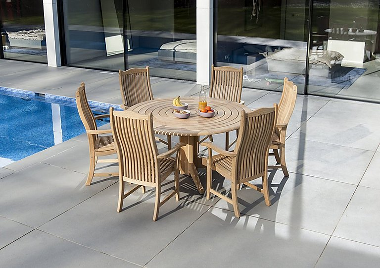 Roble Round 6 Seater Dining Set