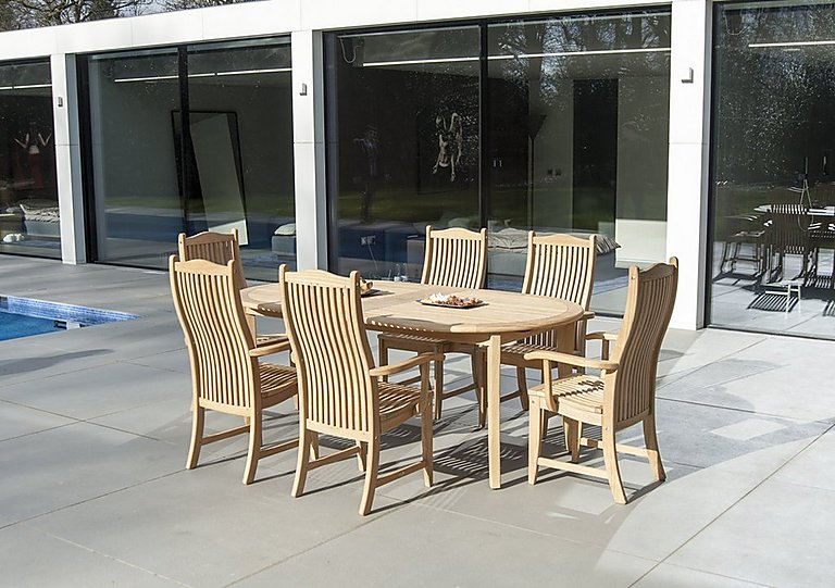 Roble 8 Seater Extending Dining Set