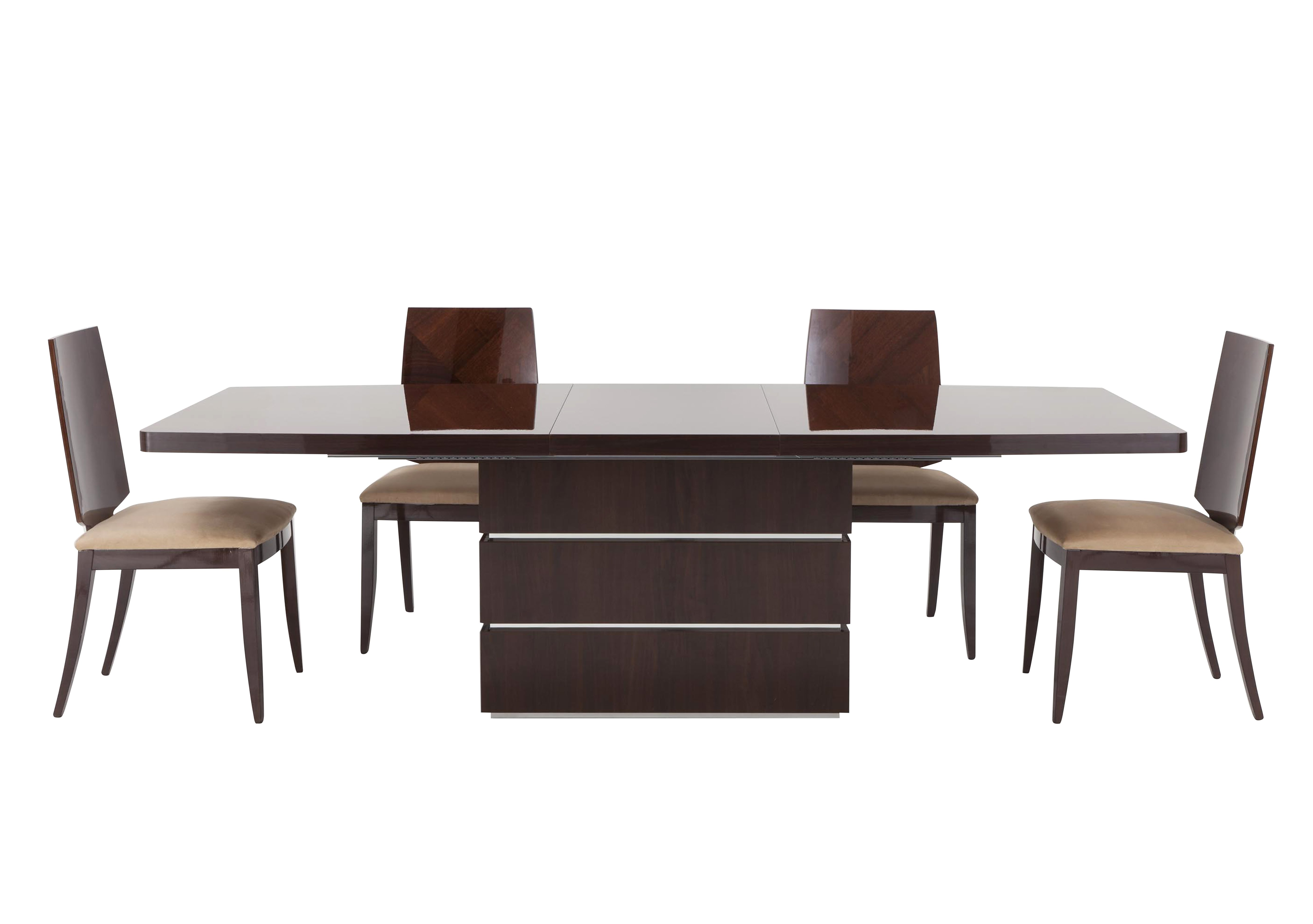 Furniture Village Glass Dining Table rossini extending table and 4 chairs - alf - furniture village