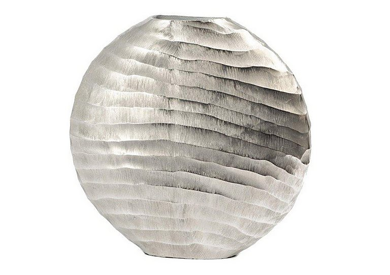 Ripples Silver Vase Large in  on FV