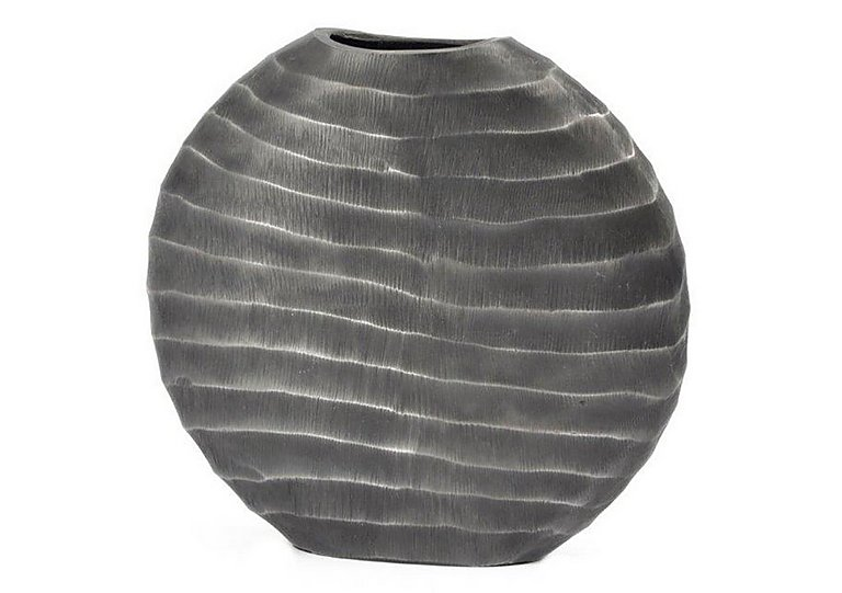 Ripples Graphite Vase Small in  on FV