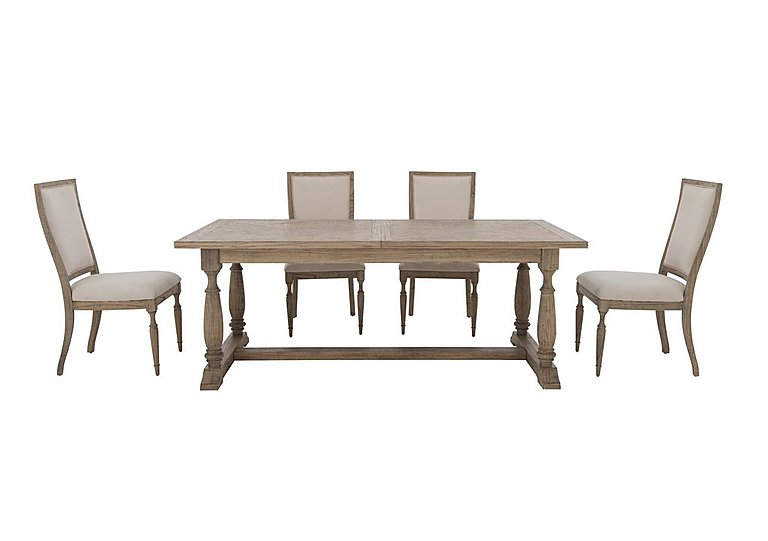 Riviera Extending Table and 4 Dining Chairs