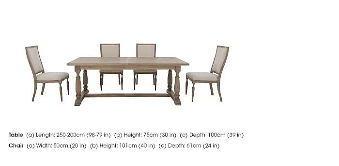 Riviera Extending Table and 4 Dining Chairs in  on FV