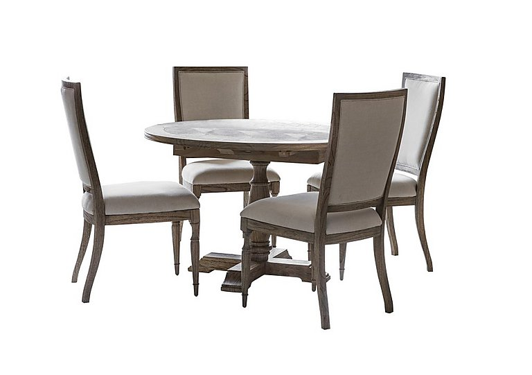 Riviera Round Extending Table with 4 Side Chairs