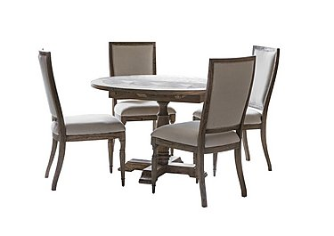 Riviera Round Extending Table with 4 Side Chairs in  on FV