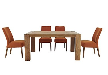 Santorini Extending Table with 4 Fabric Chairs in  on Furniture Village