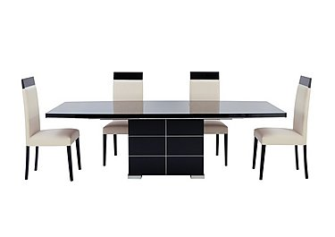 Savina Extending dining table and 4 side chairs