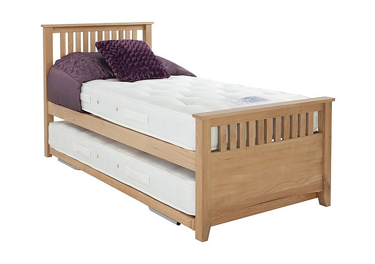 Sleepover bed frame with pocket mattress furniture village for Furniture village beds