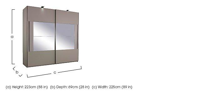 Rauch Seta 2 Door Slider Wardrobe  in {$variationvalue}  on FV